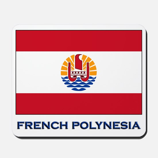 French Polynesia Flag Stuff Mousepad