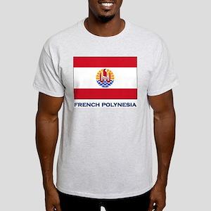 French Polynesia Flag Stuff Ash Grey T-Shirt