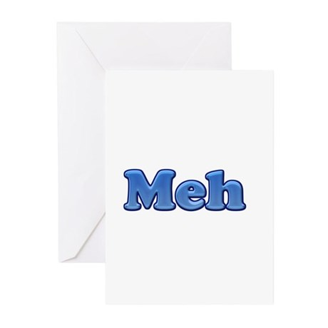 Meh 1.png Greeting Cards (Pk of 20)