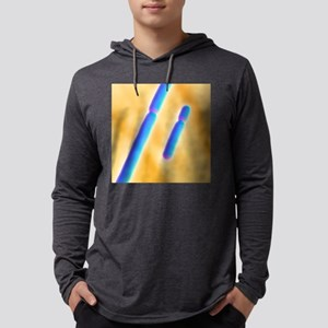X and Y chromosomes Mens Hooded Shirt