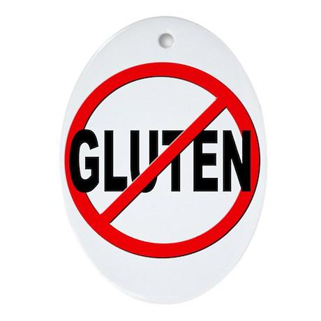 Anti / No Gluten Ornament (Oval)
