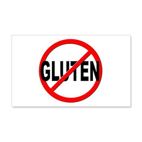 Anti / No Gluten 20x12 Wall Decal