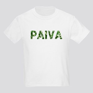 Paiva, Vintage Camo, Kids Light T-Shirt