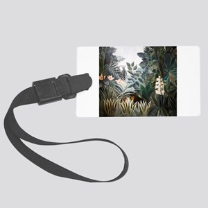 Henri Rousseau Rain Forest Large Luggage Tag