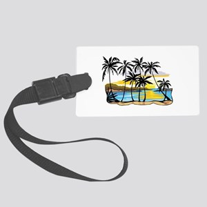 Beautiful Beach Large Luggage Tag