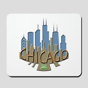 Chicago Skyline Newwave Beachy Mousepad