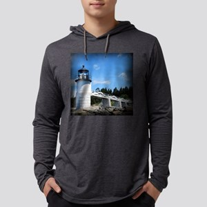 Marshall Point Lighthouse- Port  Mens Hooded Shirt