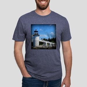 Marshall Point Lighthouse-  Mens Tri-blend T-Shirt