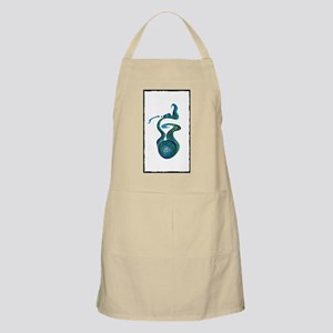 (Blue Green) Save! (on White) Apron