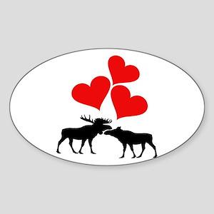 Hearts & Moose Sticker