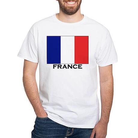 Flag of France White T-Shirt