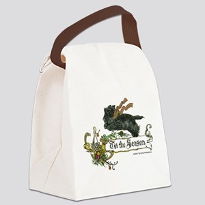 Scottish Terrier Season Canvas Lunch Bag