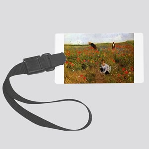 Poppies In The Field Large Luggage Tag