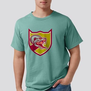 Rattle Snake Head Shield Mens Comfort Colors Shirt