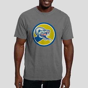 Rattle Snake Head Circle Mens Comfort Colors Shirt