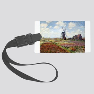 Monet Fields Of Tulip Large Luggage Tag
