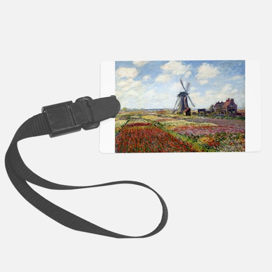 Monet Fields Of Tulip Luggage Tag