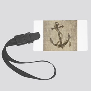 Vintage Anchor Large Luggage Tag