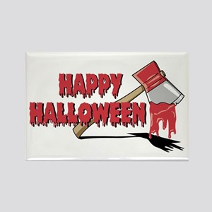 Halloween Bloody Ax Rectangle Magnet
