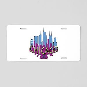 Chicago Skyline Newwave Cool Aluminum License Plat