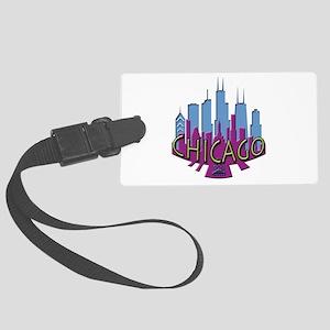 Chicago Skyline Newwave Cool Large Luggage Tag