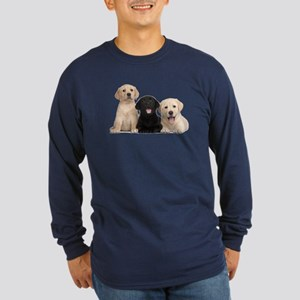 Labrador puppies Long Sleeve Dark T-Shirt