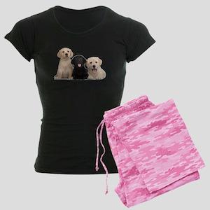 Labrador puppies Women's Dark Pajamas