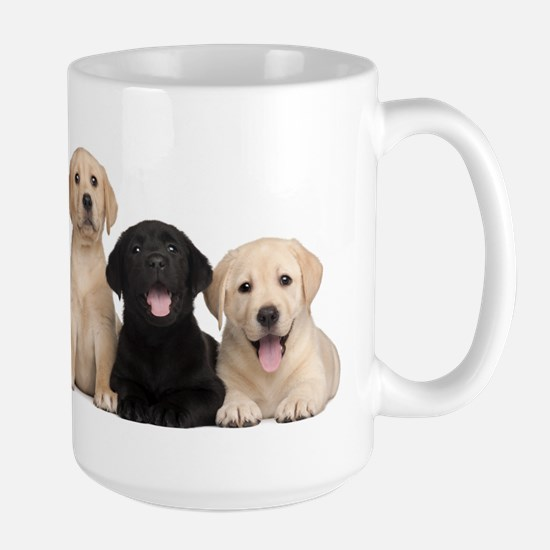 Labrador puppies Large Mug