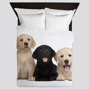 Labrador puppies Queen Duvet