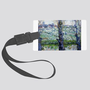 Van Gogh Flowering Orchards Large Luggage Tag