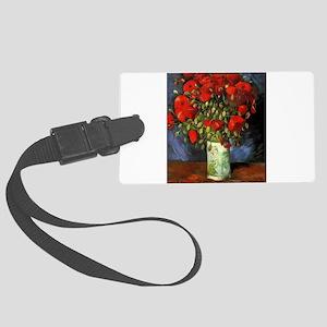 Van Gogh Red Poppies Large Luggage Tag