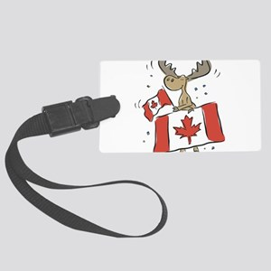 Canada Day Moose Large Luggage Tag