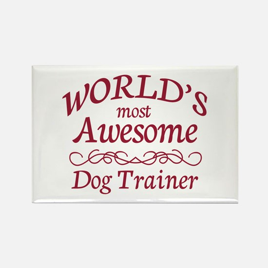 Awesome Dog Trainer Rectangle Magnet (100 pack)