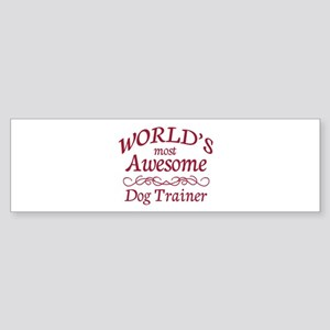 Awesome Dog Trainer Sticker (Bumper)