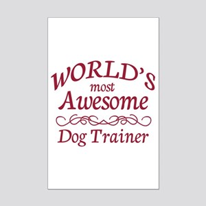 Awesome Dog Trainer Mini Poster Print