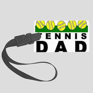 Tennis Dad Large Luggage Tag