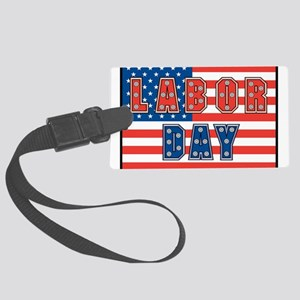 USA Labor Day Large Luggage Tag