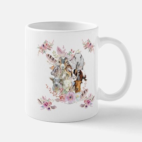 GOATs   Watercolor Goat Portraits GetYerGoat™ Mugs