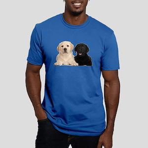 Labrador puppies Men's Fitted T-Shirt (dark)