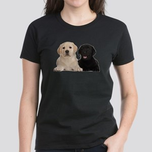 Labrador puppies Women's Dark T-Shirt