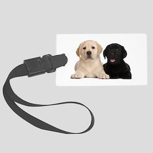 Labrador puppies Large Luggage Tag