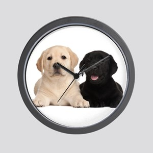 Labrador puppies Wall Clock