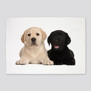 Labrador puppies 5'x7'Area Rug