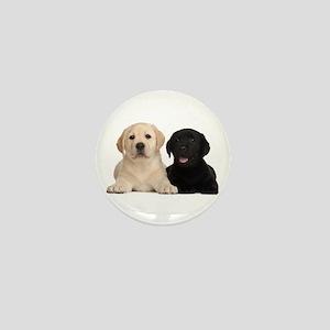 Labrador puppies Mini Button