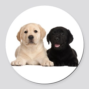 Labrador puppies Round Car Magnet