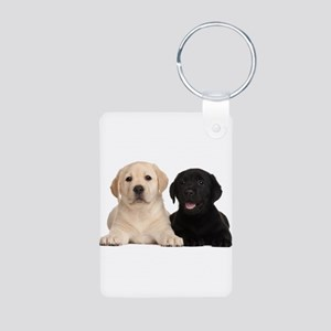 Labrador puppies Aluminum Photo Keychain