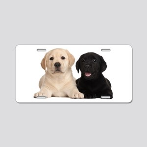 Labrador puppies Aluminum License Plate