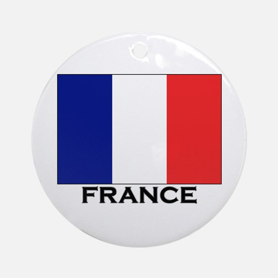 France Flag Stuff Ornament (Round)
