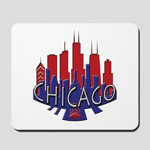 Chicago Skyline Newwave Patriot Mousepad