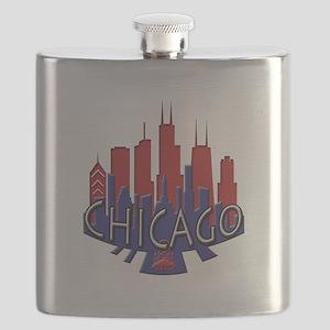 Chicago Skyline Newwave Patriot Flask